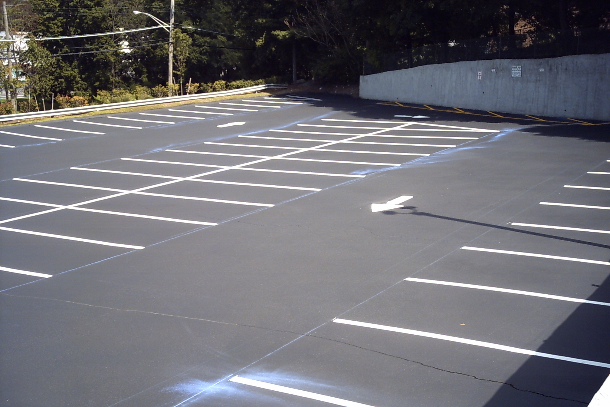 parking lot line painting ct ny parking lot space