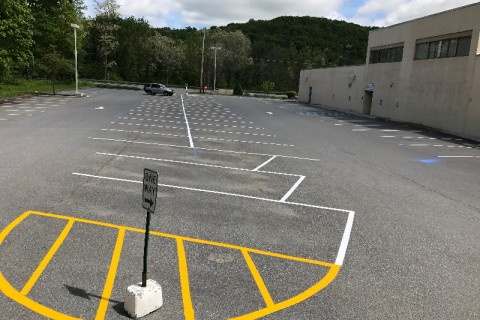 parking lot line painter